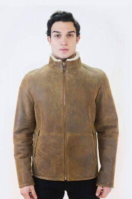 ALAVUS Men Leather Jacket