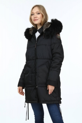 WESTON Women's Raccoon Fur Parka