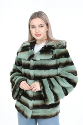 GRONGEN Rex Rabbit Fur Coat for Women