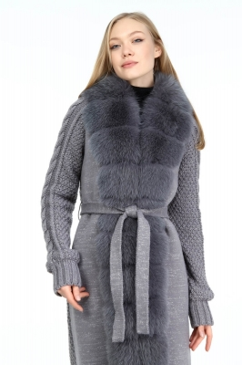 PILADO Fox Fur Knitwear Woman Coat