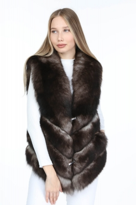 ARSEGO Women's Fox Fur Vest